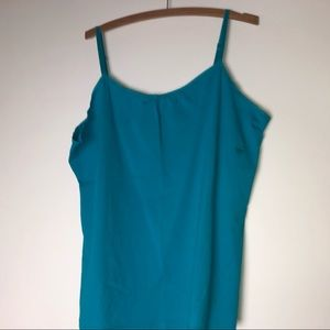Lane Bryant Teal Tank Top 18/20 NWT